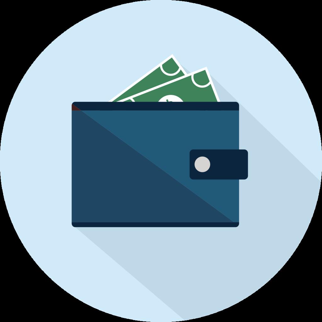 Säästö lomapakko josta näkyy seteleitä
