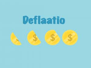 deflaatio tarkoittaa yleisen hintatason laskua